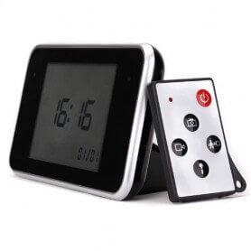 Relógio Despertador Espião sensível ao Toque de 5 MP Full HD 1080p