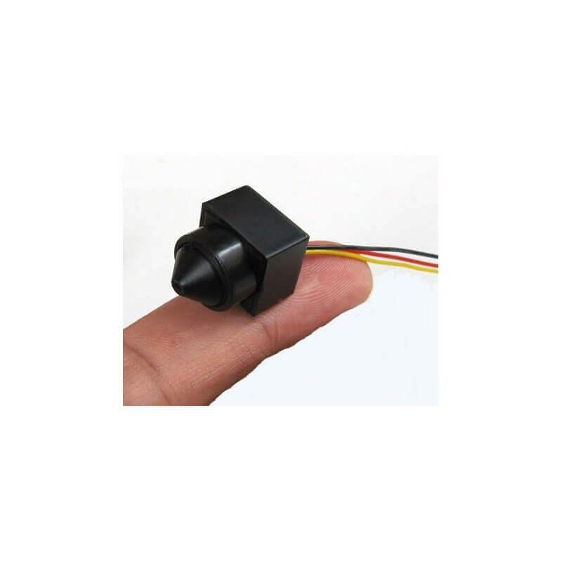 Mini cámara CCTV baja iluminación 90º 480 TVL