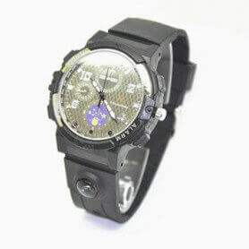 Watch spy HD 720p H264 IR and LED flashlight