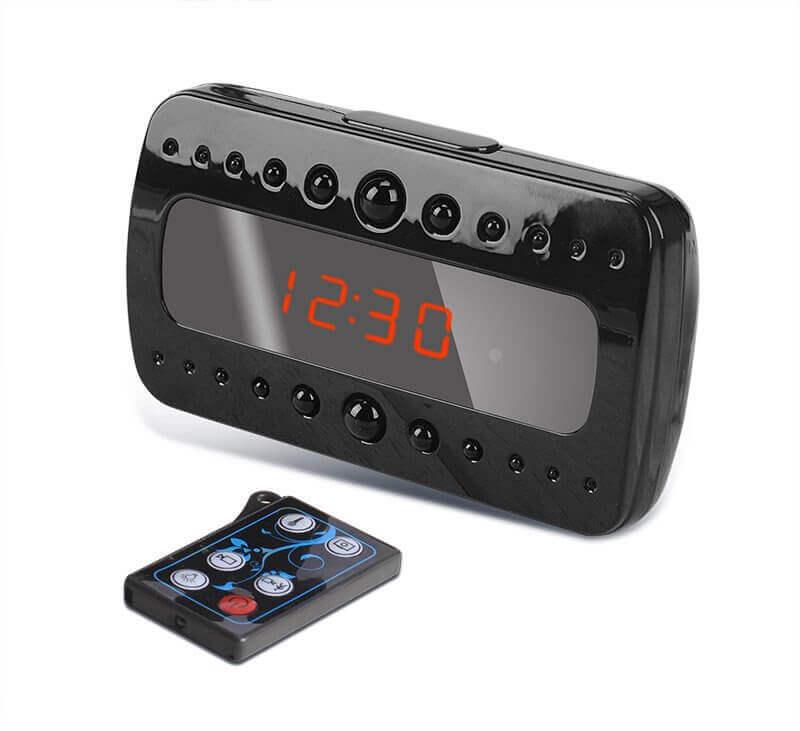 Despertador espião sem fio com visão noturna Full HD 1080p autonomia ... 17d6a1ee36