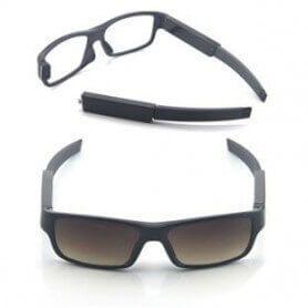 Gafas espía con cámara oculta HD 720P con bateria intercambiable