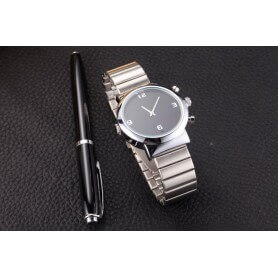 Relógio de marca UNISSEX com IR Full HD 1080p e detecção de movimento SEM-40