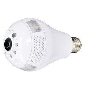 Light bulb spy WIFI IP 3W 960p wide angle with night vision and motion detection