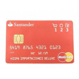 Gravador de voz oculta no cartão de crédito
