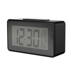 Relógio despertador WIFI visão noturna com termômetro