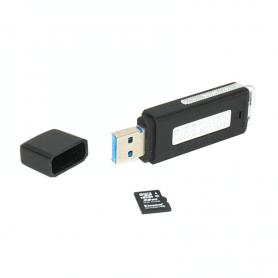 Enregistreur de voix caché dans USB espion plus 128 go à 10 heures