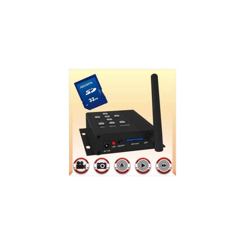 Receptor DVR inalámbrico 2,4 GHz 32GB y 4 canales