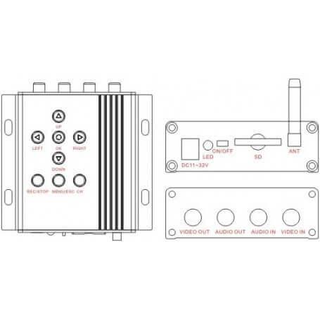 DVR récepteur sans fil de 2,4 GHz, 32 go et 4 canaux