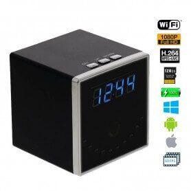 Reloj espía de escritorio imagen en directo WIFI HD con vision nocturna