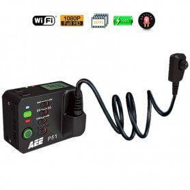 Câmera de botão Policial Wifi