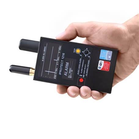 Detector de cámaras y micrófonos ocultos iProtect 1216
