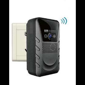 Câmera espião no carregador de rede wi-fi 1080p Grande Angular