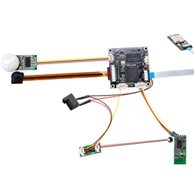 Módulo de gravação WIFI Full HD com PIR h264 para IOS e Android